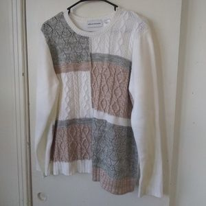Alfred dunner ladies sweater sz large